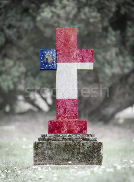 Gravestone in the cemetery - Georgia Stock photo © michaklootwijk