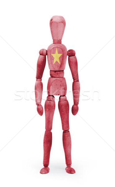 木材 図 マネキン フラグ ベトナム 白 ストックフォト © michaklootwijk