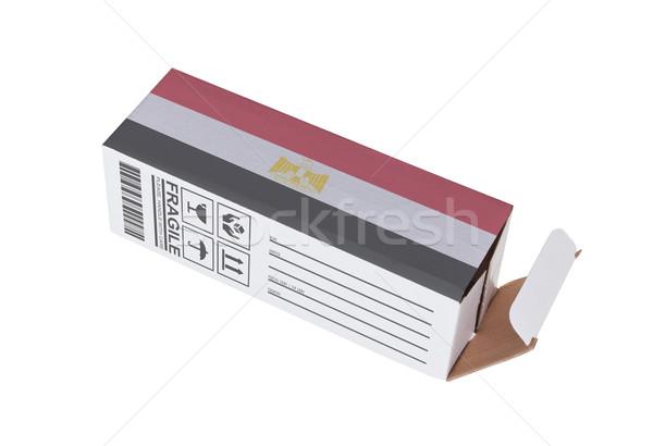 エクスポート 製品 エジプト 紙 ボックス ストックフォト © michaklootwijk