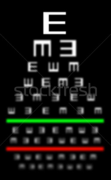 Сток-фото: зрение · плохо · испытание · диаграммы · очки
