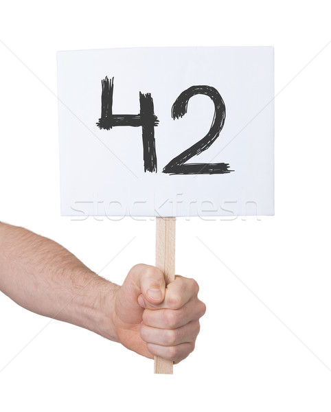 Sign with a number, 42 Stock photo © michaklootwijk