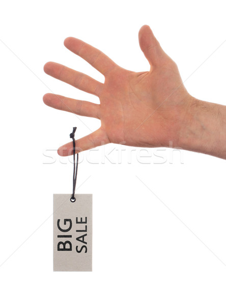 Stock photo: Tag tied with string, price tag