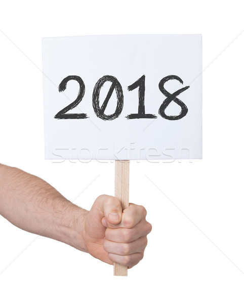 Sign with a number - The year 2018 Stock photo © michaklootwijk