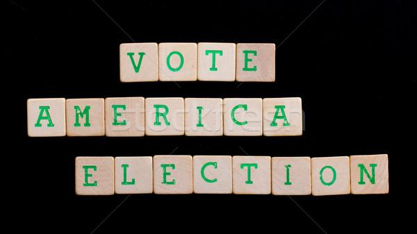 Foto stock: Cartas · américa · votar · eleição · teia