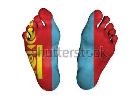 Voeten regenboog vlag patroon geïsoleerd lichaam Stockfoto © michaklootwijk