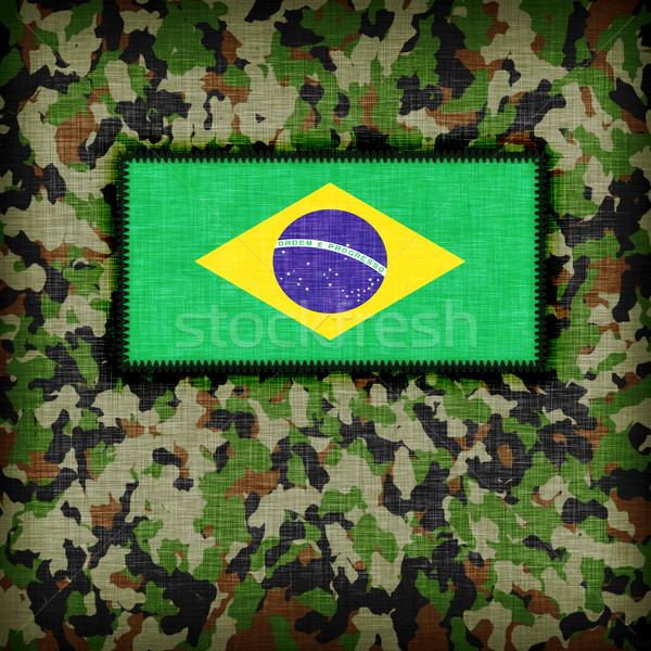 Amy camouflage uniform, Brazil Stock photo © michaklootwijk