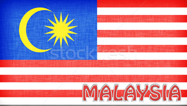 Linen flag of Malaysia Stock photo © michaklootwijk