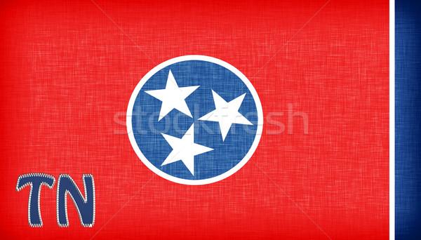 Banderą Tennessee skrót star tkaniny Zdjęcia stock © michaklootwijk