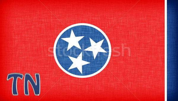 Bandera Tennesse abreviatura estrellas tejido Foto stock © michaklootwijk