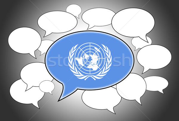 Comunicazione nube di discorso voce abstract spazio bandiera Foto d'archivio © michaklootwijk
