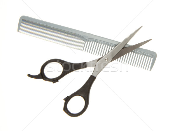 Hair cutting shears and comb Stock photo © michaklootwijk