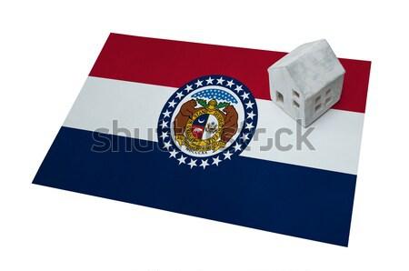 Usato plastica valigia stampata bandiera Foto d'archivio © michaklootwijk