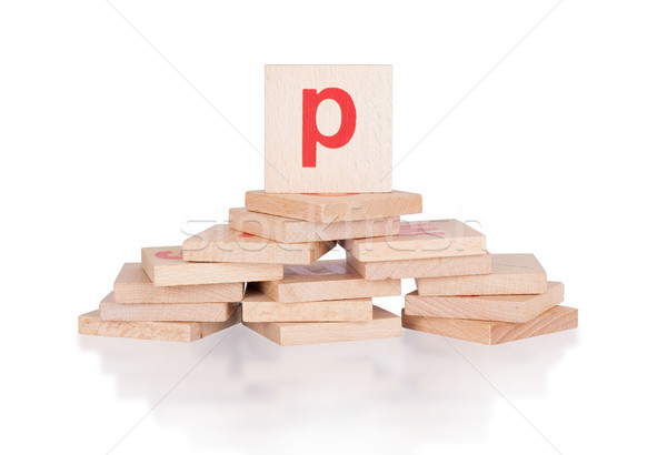 Alphabet - letter P Stock photo © michaklootwijk