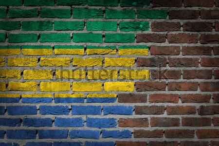 Escuro parede de tijolos direitos Micronésia textura bandeira Foto stock © michaklootwijk