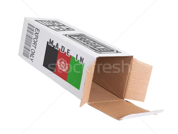 Exportar produto Afeganistão papel caixa Foto stock © michaklootwijk