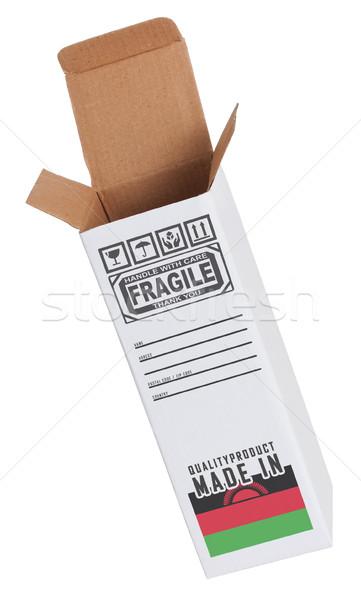 Stock fotó: Export · termék · Malawi · kinyitott · papír · doboz