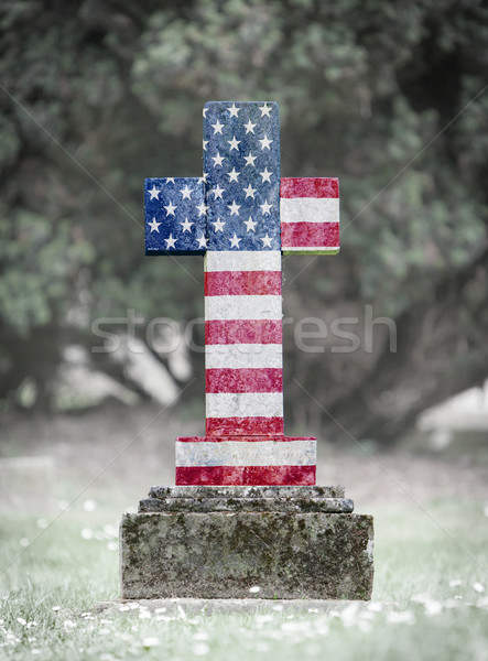 Gravestone in the cemetery - USA Stock photo © michaklootwijk