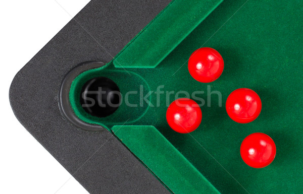 Rot Snooker Kugeln Tabelle Pool Ball Stock foto © michaklootwijk