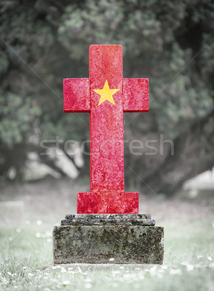Gravestone in the cemetery - Vietnam Stock photo © michaklootwijk