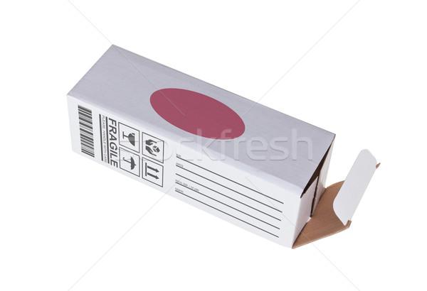 Export termék Japán kinyitott papír doboz Stock fotó © michaklootwijk