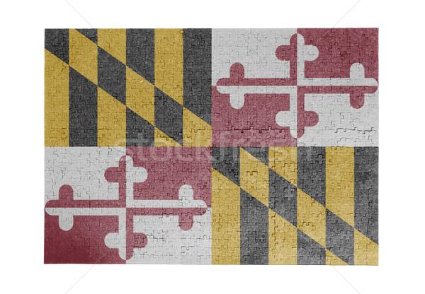 Nagy kirakós játék 1000 darabok Maryland zászló Stock fotó © michaklootwijk