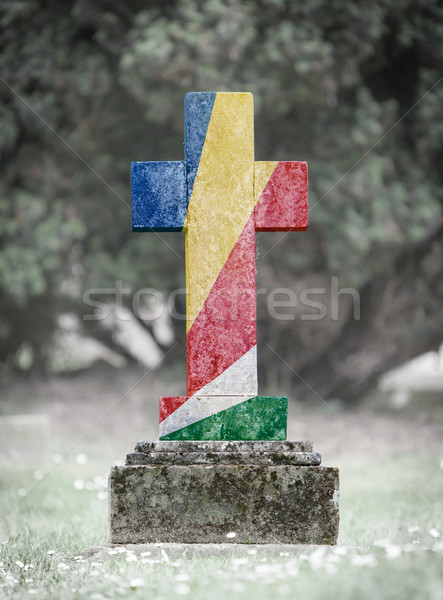 Gravestone in the cemetery - Seychelles Stock photo © michaklootwijk