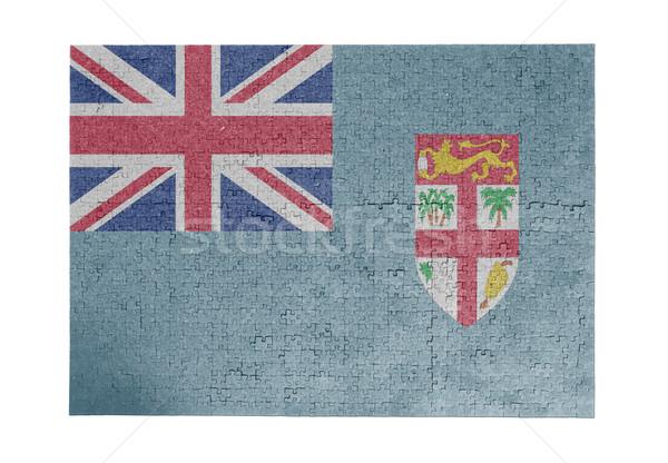 Nagy kirakós játék 1000 darabok Fidzsi-szigetek zászló Stock fotó © michaklootwijk