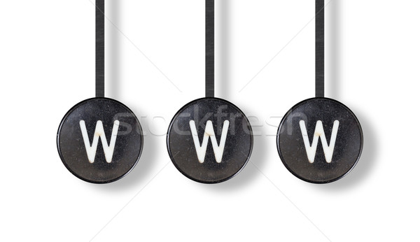 Typewriter buttons, isolated - WWW Stock photo © michaklootwijk