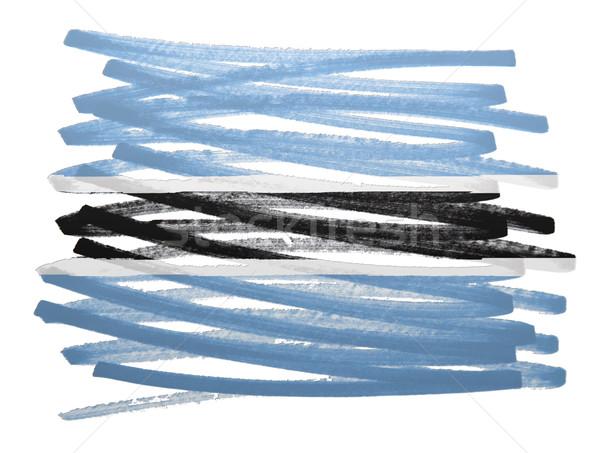 флаг иллюстрация Ботсвана пер бизнеса краской Сток-фото © michaklootwijk