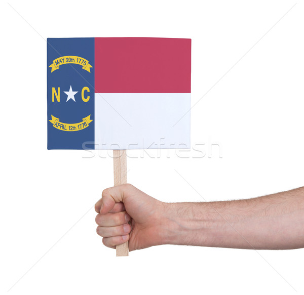 Hand klein kaart vlag North Carolina Stockfoto © michaklootwijk