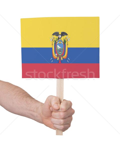 El küçük kart bayrak Ekvador Stok fotoğraf © michaklootwijk