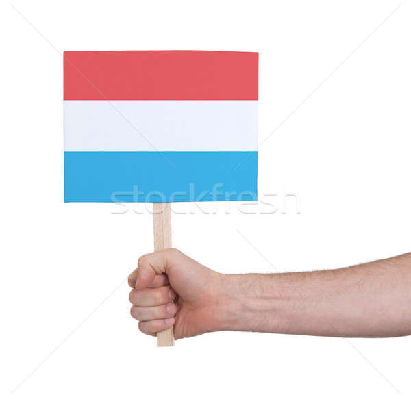 Hand klein kaart vlag Luxemburg Stockfoto © michaklootwijk