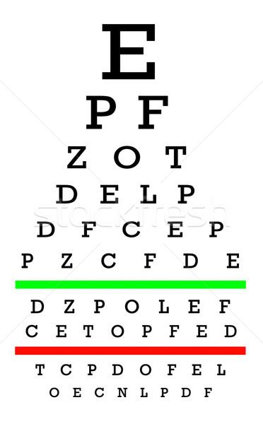 зрение хорошие испытание диаграммы письма очки Сток-фото © michaklootwijk
