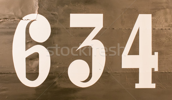 Painted number on an old plane Stock photo © michaklootwijk