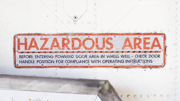 Piece of aircraft grunge metal background Stock photo © michaklootwijk