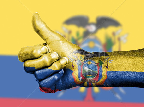 старуху знак флаг шаблон Эквадор Сток-фото © michaklootwijk