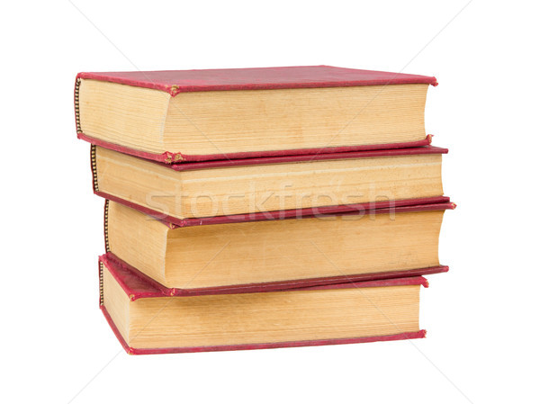 Stack of old books with red covers Stock photo © michaklootwijk