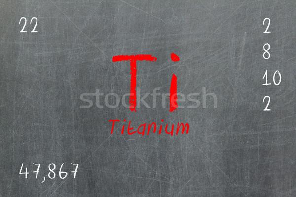 Isolated blackboard with periodic table, Titanium Stock photo © michaklootwijk