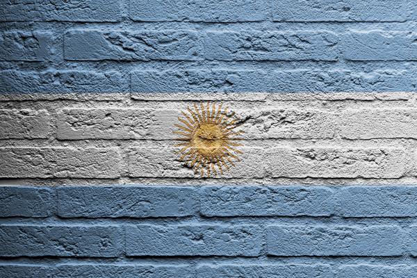 Mur de briques peinture pavillon Argentine isolé peinture Photo stock © michaklootwijk