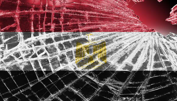 Broken glass or ice with a flag, Egypt Stock photo © michaklootwijk