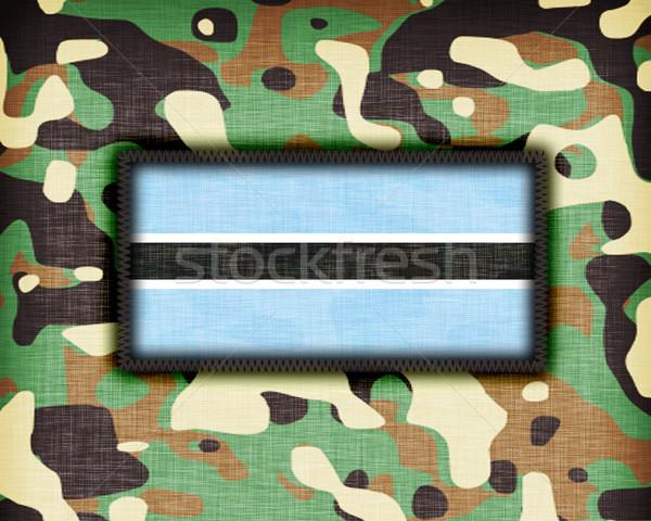 Stock photo: Amy camouflage uniform, Botswana