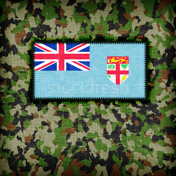Uniforme Fiji bandiera texture abstract Foto d'archivio © michaklootwijk