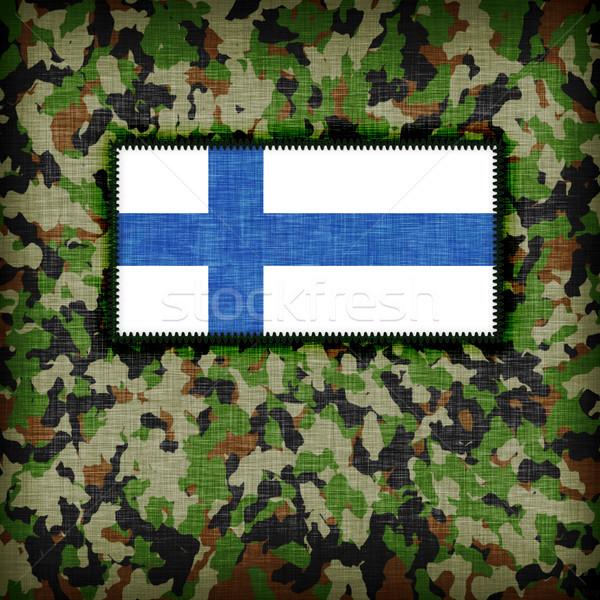 Tarnung einheitliche Finnland Flagge Textur abstrakten Stock foto © michaklootwijk