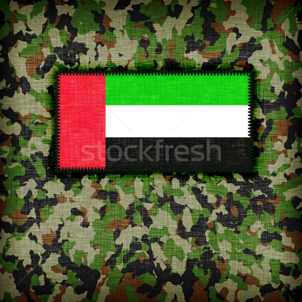 álca egyenruha zászló textúra absztrakt zöld Stock fotó © michaklootwijk