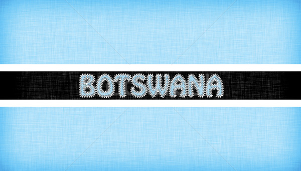 Flag of Botswana stitched with letters Stock photo © michaklootwijk