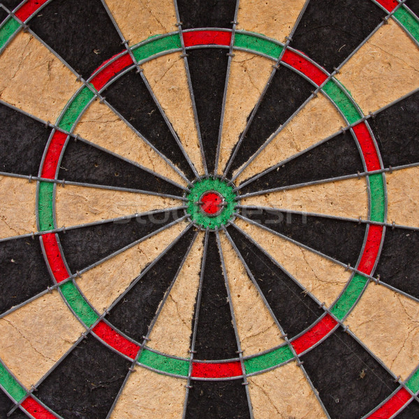 Close-up of a very old dartboard Stock photo © michaklootwijk