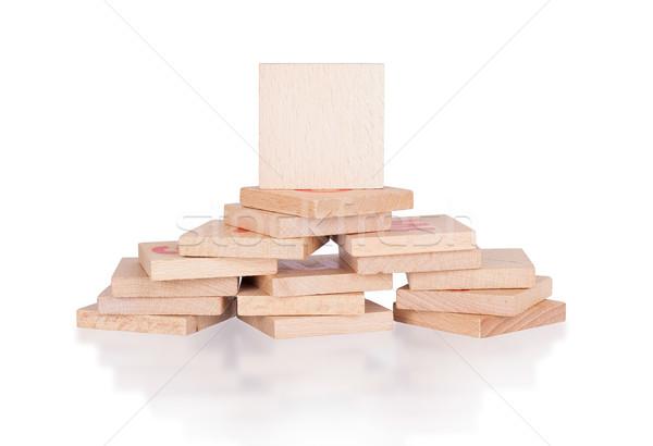 Wooden blocks Stock photo © michaklootwijk