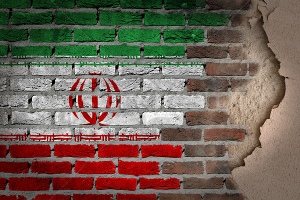 Dark brick wall with plaster - Iran Stock photo © michaklootwijk