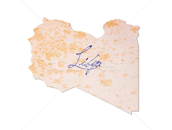 Libia papel viejo escritura azul tinta educación Foto stock © michaklootwijk
