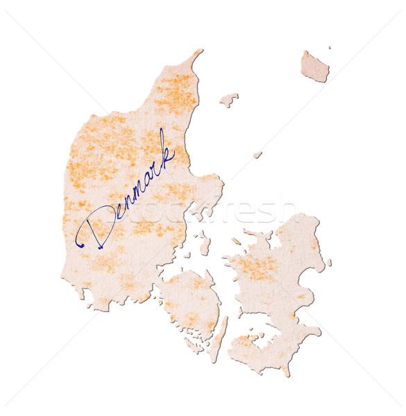 古い紙 手書き デンマーク 青 インク 教育 ストックフォト © michaklootwijk